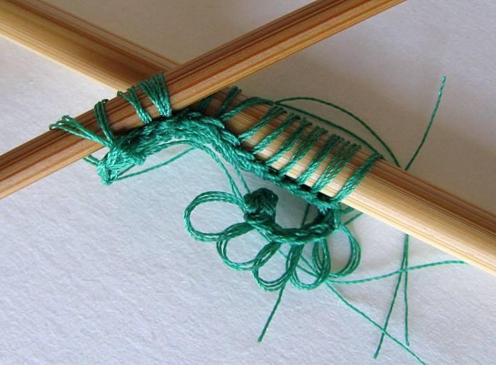 Palm Leaf - Slip Stitch