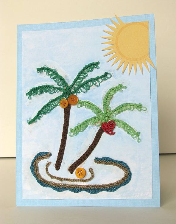Palmy Greeting Card