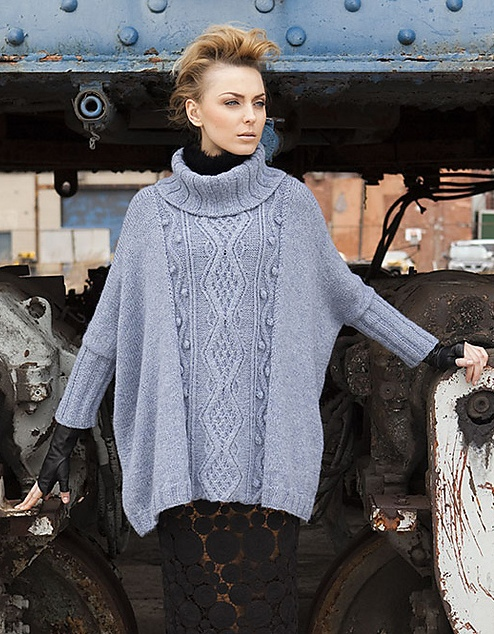 Cabled Poncho by DNii - Vogue Knitting Early Fall 2011_medcrop