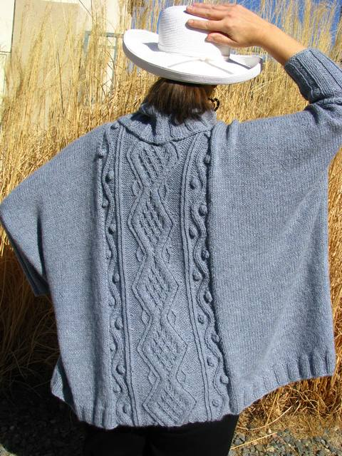 Oversized Poncho Sweater - back 1