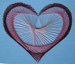Paper Sewing - heart complete