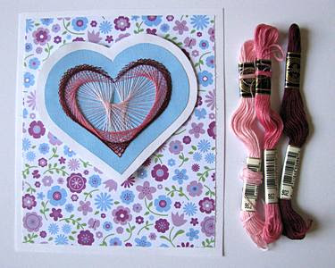 Paper Sewing - Large Heart