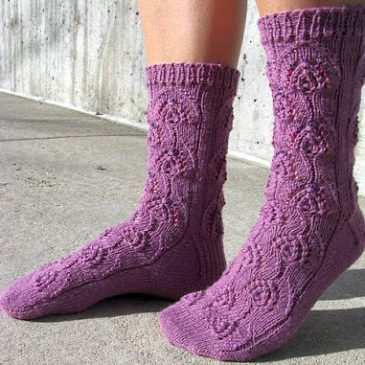 Beaded Peacock Socks in Sock-A-Licious (by Kollage Yarns)