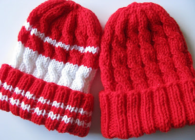 Charity: Cabled Kid Caps