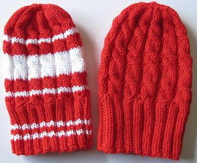 Cabled Kid Caps