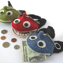 Monster Fish Coin Pockets