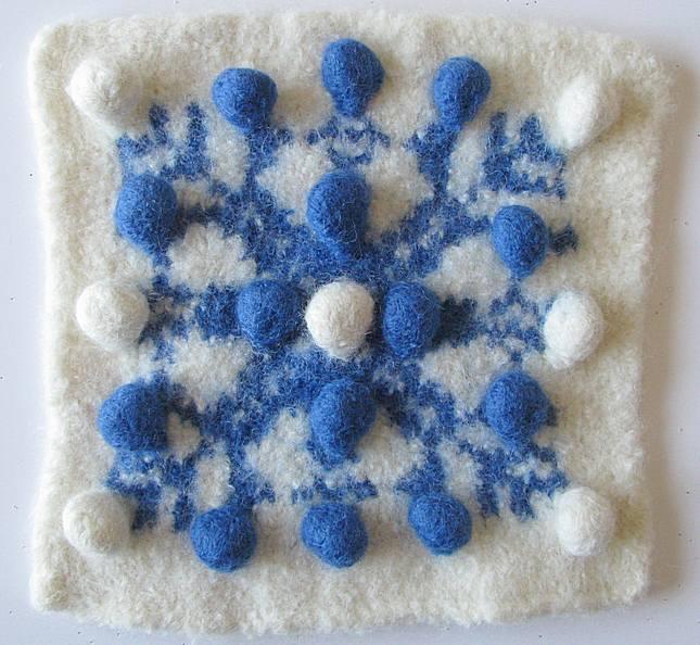 Bobble Snowflake Hotpad