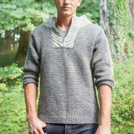 Men's Staghorn Waffle Sweater front