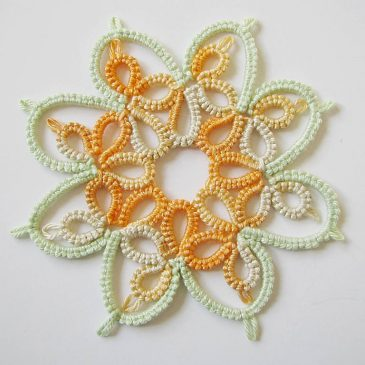 Experimenting with Non-Traditional Yarn for Tatting